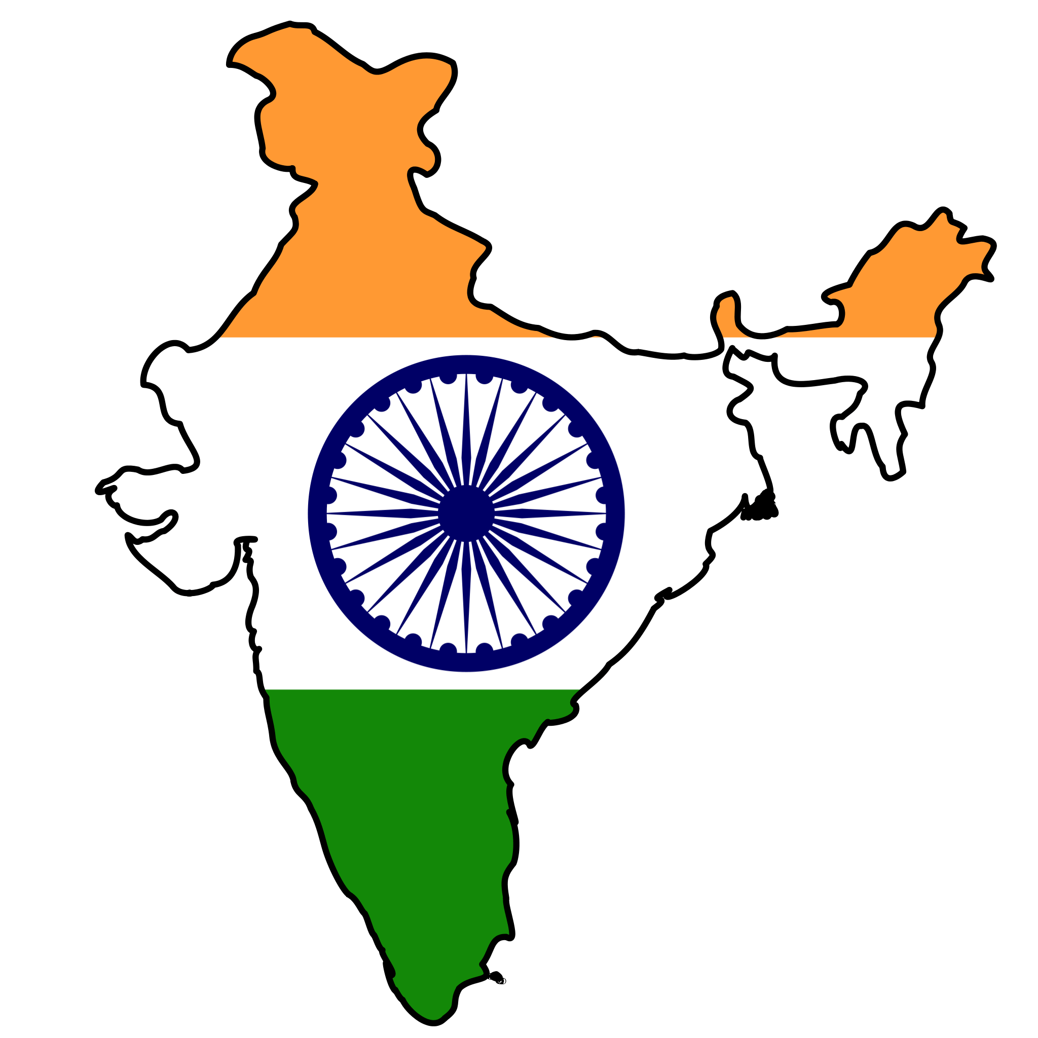 india flag map